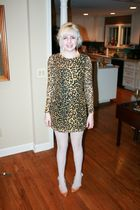gold Rodarte for Target dress - pink Jeffrey Campbell shoes - white tights - pin