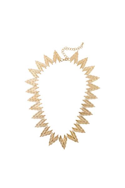 gold statement Love Stylize necklace
