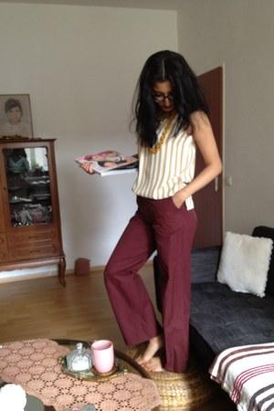 crimson thrifted pants