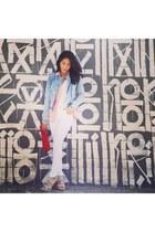 Fire Los Angeles jacket - Zara jeans - Bella Dahl blouse - Fluxus t-shirt