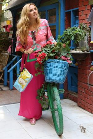 hot pink Marie Bishara skirt