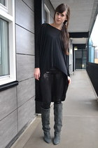Isabel Marant boots - sequin H&M leggings - dip back asos shirt