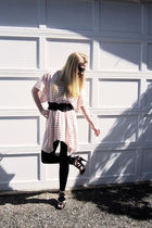 H&M dress - Wet Seal leggings - Marshalls shoes - H&M belt - unknown brand sungl