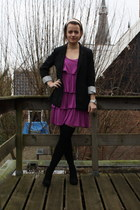 amethyst H&M dress - black H&M blazer - black heels