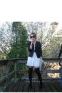 Black-we-blazer-white-h-m-dress-black-boots-purple-belt-gray