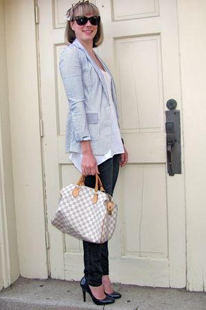 blue banana republic blazer - white Forever 21 blouse - blue Gap jeans - beige L