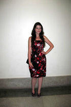 red Oasis dress - black Aldo purse - black Dries Van Noten shoes