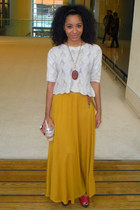 mustard Shout skirt - ruby red Republic shoes - cream Market top