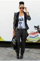 M&S jacket - Aldo boots - vintage t-shirt