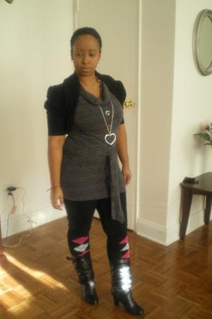 top - vest - socks - boots - necklace
