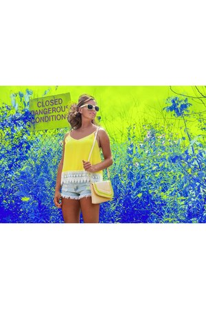 yellow Lucky B Boutique sunglasses - eggshell Lucky B Boutique purse