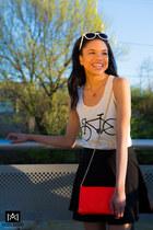 black Kingdom B skirt - salmon Lucky B purse - white Lucky B sunglasses