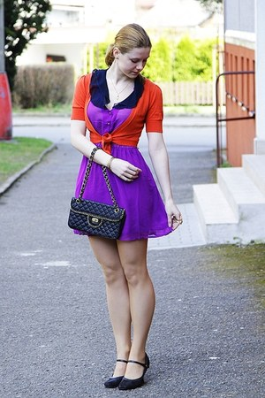 humanic shoes - Forever 21 dress - Tally Weijl purse - F&F cardigan