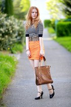 Zara skirt - Domi bag - SIX belt - H&M top