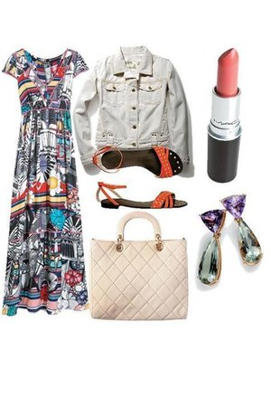 dress - jacket - bag - sandals - earrings
