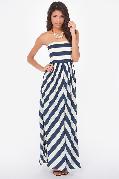 navy LuLus dress
