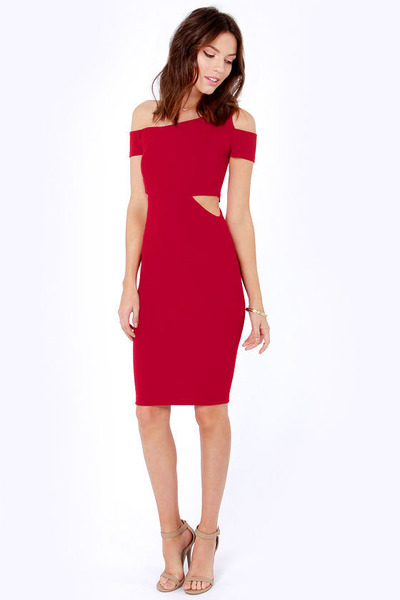 ruby red LuLus dress