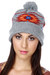 heather gray knit obey hat
