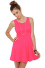 Hot Pink Lu Lus Dresses