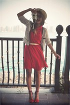 red H&M dress - red Zara sandals