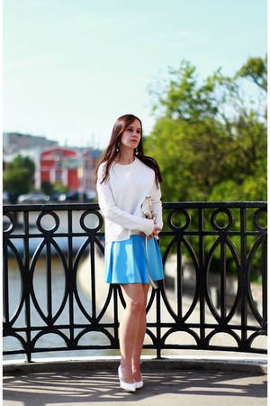 Chicwish skirt - Zara shoes - River Island bag - Mango sweatshirt