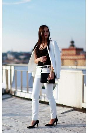 Topshop blazer - Rebecca Minkoff bag - Zara pants - H&M heels