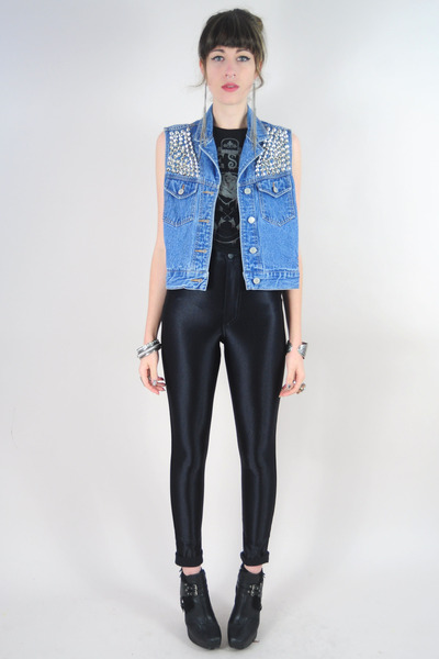 navy Levis vest - black American Apparel leggings