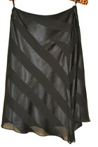 Banana Republic SKIRT Chic Asymmetric Hem Black Stripe Bohemian sz0