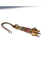 amethyst bohemian Budget Luxuries earrings