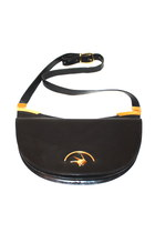 Vintage Rodo Shoulder Bag Sling Crescent CrossBody Purse Italy Black Leather