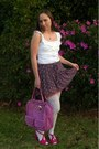 Hot-pink-bag-white-lace-top-stockings-amethyst-heartsy-skirt