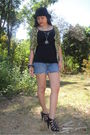 Green-random-from-hongkong-cardigan-blue-esprit-top-elephant-necklace-bang