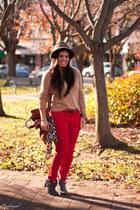 camel leopard fedora Target hat - charcoal gray Steve Madden Girl boots