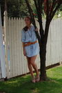 Blue-zara-dress-beige-jeffrey-campbell-shoes