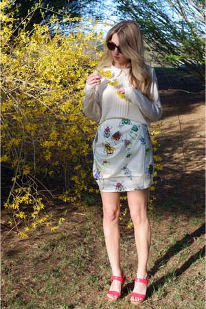 ASOS Bug Skirt skirt - Pim & Larkin blouse - Zara Heels heels