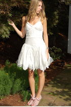 white lulus dress - Dorothy Perkins shoes