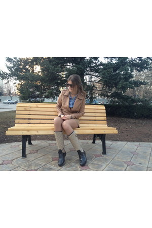 Tommy Hilfiger boots - H&M jacket - Pimkie skirt