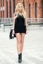 hm dress - new look bag - sleeh heels - Zara accessories