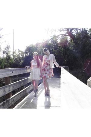 LF dress - vintage dress - H&M top - LF wedges - Jessica Simpson heels