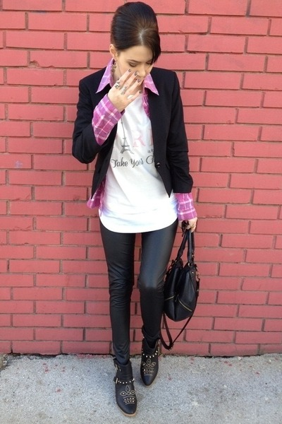 Tally Weijl t-shirt - Happening blazer - change me shirt - Promod bag