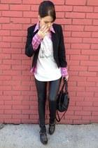 Tally Weijl t-shirt - Happening blazer - change me shirt - Promod bag