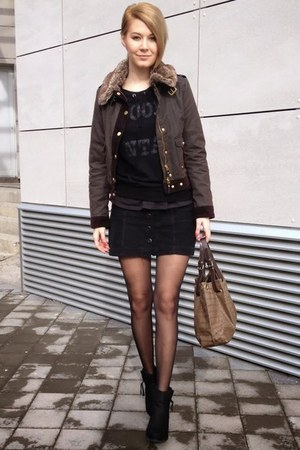 Tally Weijl boots - Stradivarius jacket - Koton bag - New Yorker t-shirt