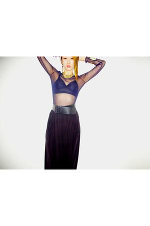 wide belt Marc by Marc Jacobs belt - see through Zara t-shirt