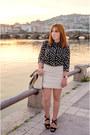 Black-only-shirt-light-brown-primark-bag-white-suiteblanco-skirt