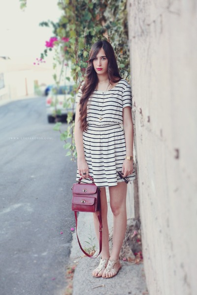 H&amp;M dress - Zara bag - pull&amp;bear sandals