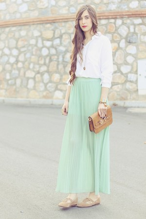 pul skirt - pull&bear shoes - Mang bag - pull&bear blouse
