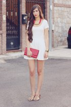 Stradivarius dress - misaki bag - Zara sandals - Stradivarius necklace