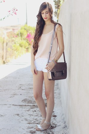 Misako bag - Zara shorts - Oysho sandals - pull&amp;bear blouse
