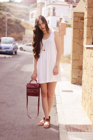 H&amp;M dress - Zara bag - Pull &amp; Bear sandals