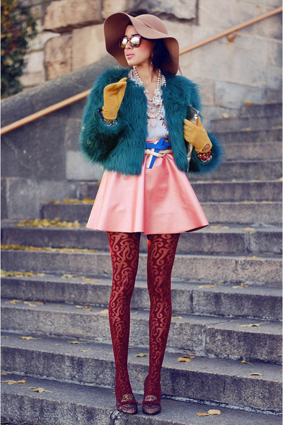 fur emerald asos jacket - mellow yellow heels